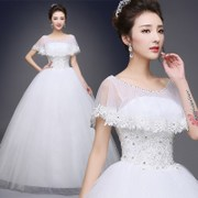 Korean neat, bigger sizes show thin 2017 new shoulders to marry white wedding dresses the bride wedding dress H73 in summer