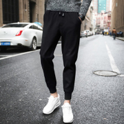 Men's pants, thin style, slim feet, sports pants, summer men, nine point pants, casual pants, Korean fashion, Haren, pants, summer