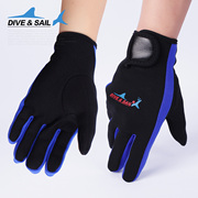 DIVE&amp SAIL; 1.5MM thin with Velcro snorkeling diving gloves anti prick slip Winter Gloves