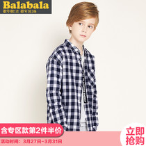 Balla Balla boys cotton shirt spring 2017 in new childrens clothing childrens gingham baby shirts children surge