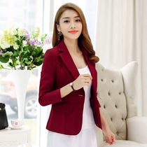 Fall 2017 new Korean cotton ladies slim small suit professional female sportswear long sleeve slim coat tide
