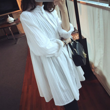 Nest * new spring agaric long paragraph sweater doll loose thin long sleeved shirt female