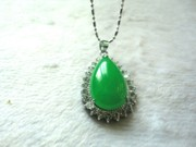A dollar auction chalcedony drop pendant with green pendant green locket children send mom