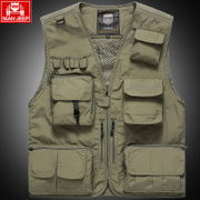 NIAN JEEP in the spring and summer outdoor photography vest pocket thin fishing vest vest jacket men