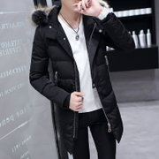 Young people in the long winter cotton male Korean winter Cotton Mens tide students thick jacket jacket
