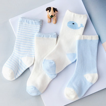 Baby socks-high 0-6-12 months in autumn and winter in man and woman cute cartoon baby 1-3 thicken cotton tube