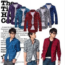 Spring clothes, Casual Shirts, men's long sleeves, Korean version, tide, self-cultivation, plaid youth shirts, men's shirts, shirts, clothing