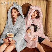 The Yurakucho 2017 winter new female furry faux fur plush coat in the long winter fur coat soft sister