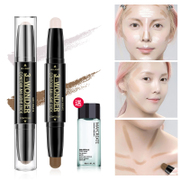 Double bar high light light & Concealer repair Yan shadow V stereo face silhouette Biying paste pen silkworm powder