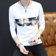 The 2017 men's T-shirt male long sleeved T-shirt slim spring male Korean male students cotton clothes coat shirt