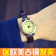 No rivet lap special offer a classic vintage leather leather watch strap watch Lady Watch students watch