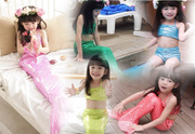 Children Mermaid tail dress swimsuit split three suit simulation girl hot spring clothing beach clothing