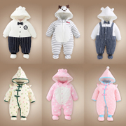 Baby clothes and winter coat and baby romper with thick clothes in winter and autumn autumn pure cotton