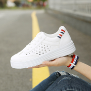2017 new white shoes all-match Korean student street shoes shoes breathable white canvas shoes in summer