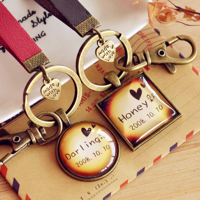 情侣钥匙扣定制名字照片挂件 男女腰挂 闺蜜生日礼物创意结婚礼品