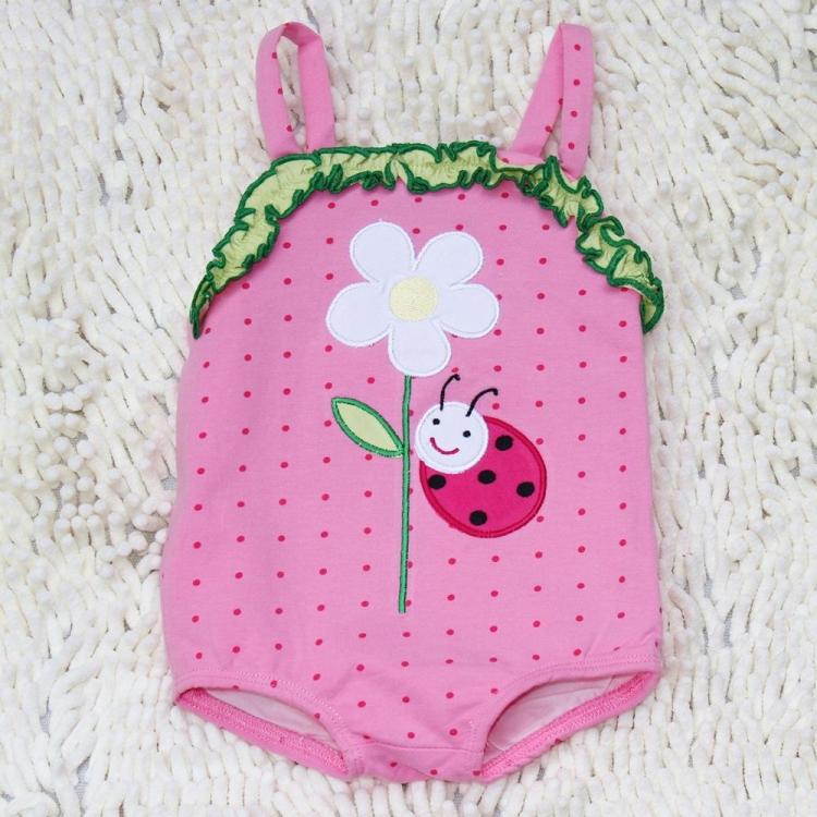 Europe and the United States Gucci girls' cotton over swimsuit children's cartoon swimsuit swimsuit breathable sunscreen