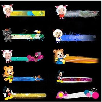 六一儿童节前景视频素材 带通道标题栏字幕条素材 儿童节目报幕标
