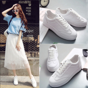 Spring all-match white shoes shoes leather strap 'Korean white canvas shoes soled shoes casual shoes