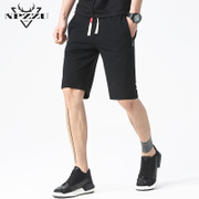 The summer male sports shorts in summer five loose beach big pants seven men in summer horse trousers