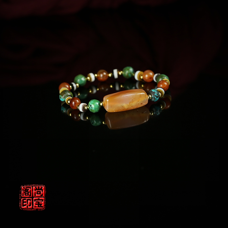 43190= Day Bead Tang ball silk agate beads le son pharmacist beads hand string South Red hand strings;