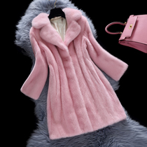 2015 winter grass new Justine mink Sable ladies coat of the mink coats women long specials