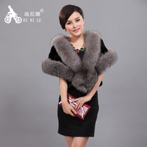 Haining new 2016 importing of mink coats spell Sable short grass fox fur bridal shawl coat ladies