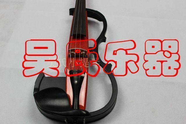 New high-end paint, hand electronic violin, 6.5 sockets, red socket, mute