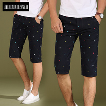 Summer mens casual pants mens pants in thin slim straight-five slacks youth shorts cropped trousers