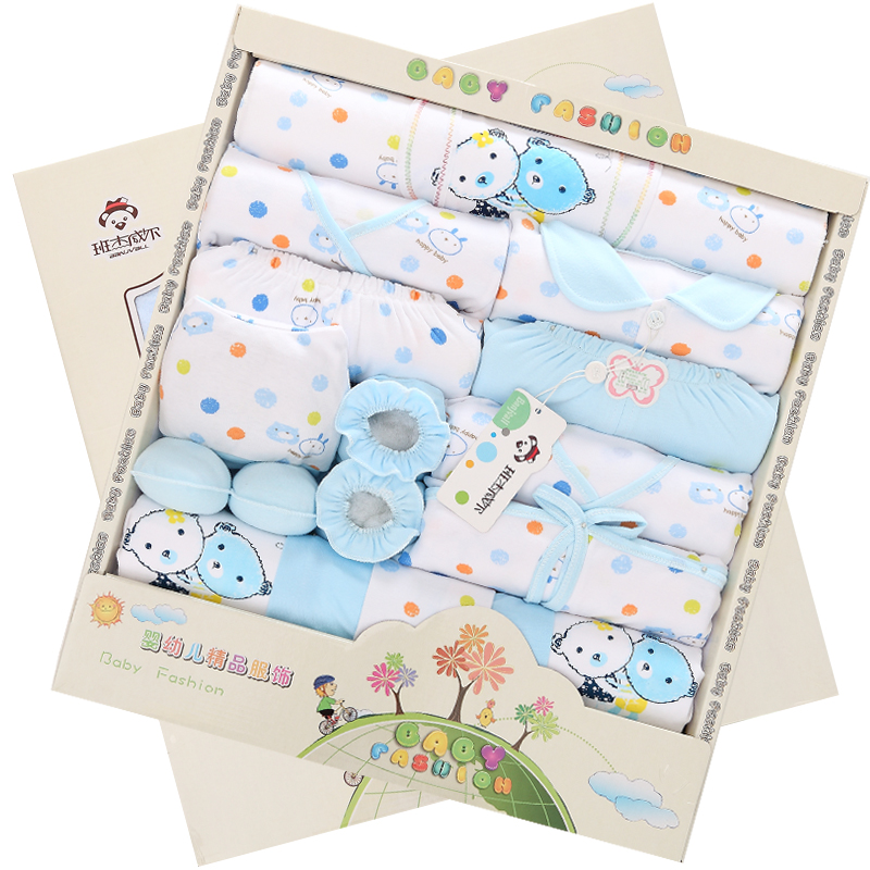Neonatal supplies spree, newborn baby clothes, clothing gift box 0, 1 men and 3 women, spring, summer, thin 6 months