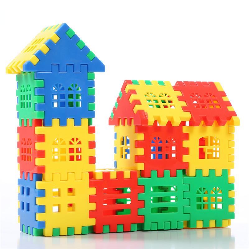 200X Plastic Building Bricks Children Kids Toy Puzzle Educational Gift I2