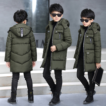 Boys coat winter coat 2016 big children baby winter padded jacket in new childrens thick long padded coat