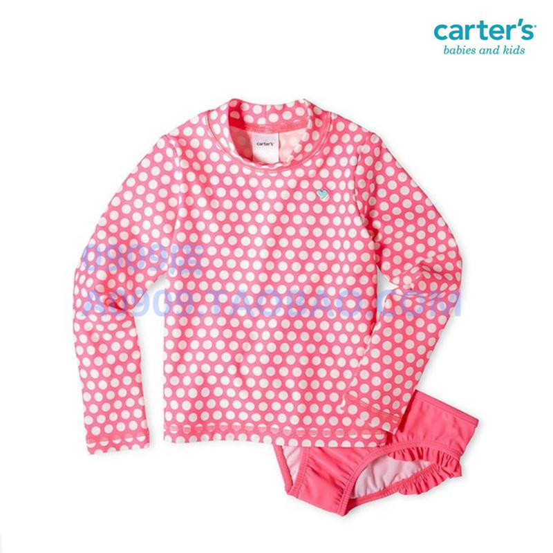 Purchase Carter-free original children's UV long sleeve body swimming suits small girls surf sun protection clothing
