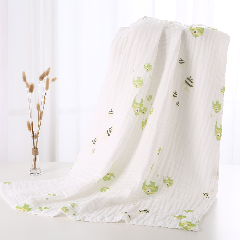 Baby baby wash bath towel towel Cotton gauze gauze cloth layer 6 layer six newborn blanket thin summer