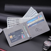 Male Short Thin Wallet retro student wallet wallet leisure business cross tide leather wallet youth personality