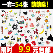 A 54 Korean cartoon tattoo and lasting waterproof bag mail sticker sexy couple simulation