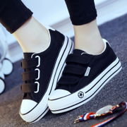 Summer magic canvas shoes a thick soled shoes Korean female lazy casual shoes with flat cloth shoes' shoes