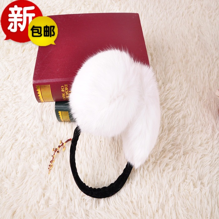 2015 autumn winters with large real rabbit fur earmuffs earmuffs warm wind warm mail