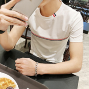 Korean Trend of men's short sleeve t-shirt men half sleeve t-shirt t-shirt half a student dress