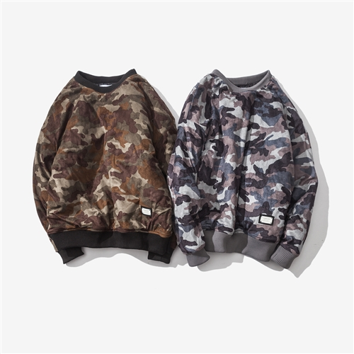 2017 Winter men's clothing new product tide with camouflage shoulder sleeves self-cultivation Japanese youth sleeve head cotton Clothing