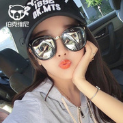 Sunglasses female tide 2017 South Korean star with the fashion big frame sunglasses retro polarized round face glasses