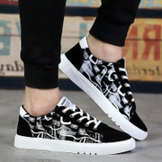 Spring low shoes men's shoes to help students canvas shoes all-match trend of Korean men's sports personality