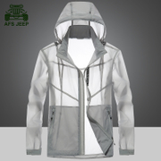 AFS JEEP/ field Jeep outdoor sports, sunscreen clothes, windproof clothing, spring and summer ultra-thin breathable skin clothing men