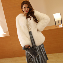 Thick warm leather grass fox fur long ladies fur coat 2016 winter new style