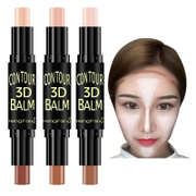 Double STICK CONCEALER & high light shadow stick waterproof stereo silhouette Biying V beginners face strengthening silkworm pen