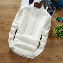 [shipping] new men's winter sweater fashion all-match long sleeved cotton Crewneck sweater