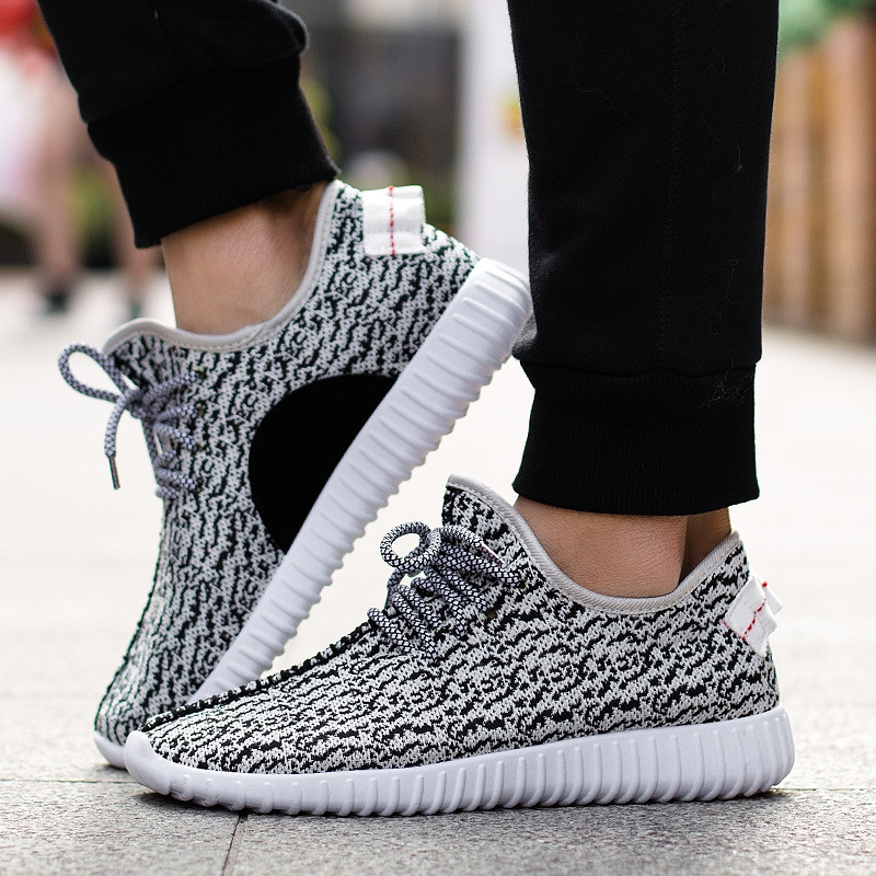 KX2017 spring and autumn trend of Korean men's fashion casual shoes sneakers shoes men's Woven flying shoes