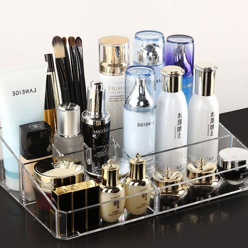 Receive a case transparent creative lipstick skincare combed put small desktop cosmetics box of cleanser