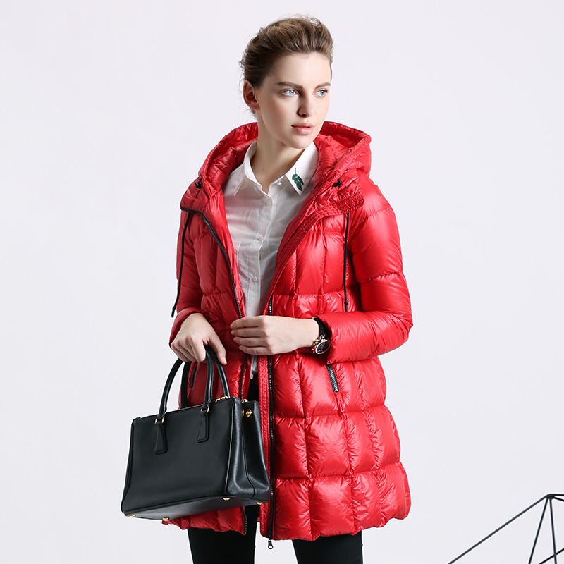 French exports Gucci winter 2017 new slim hooded long down jacket casual coat dress