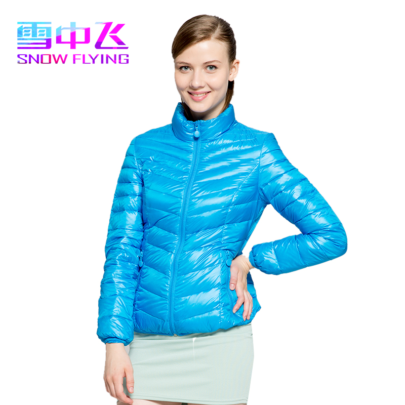 Mall in same snow flying light down jacket female authentic X1401008 han edition cultivate one's morality short coat collar boom