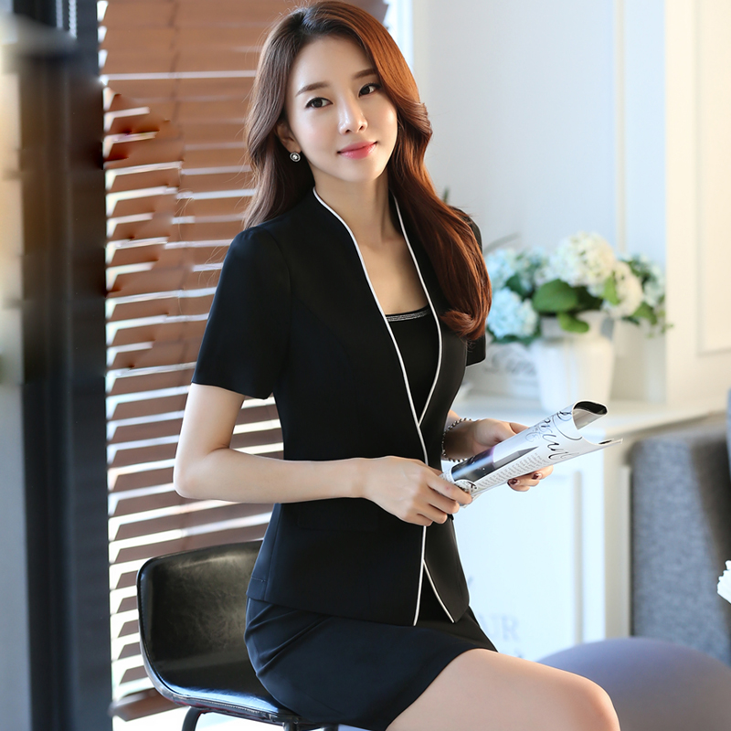 The 2016 summer new occupation suit dress suit short suit hotel manager work clothes female business suits